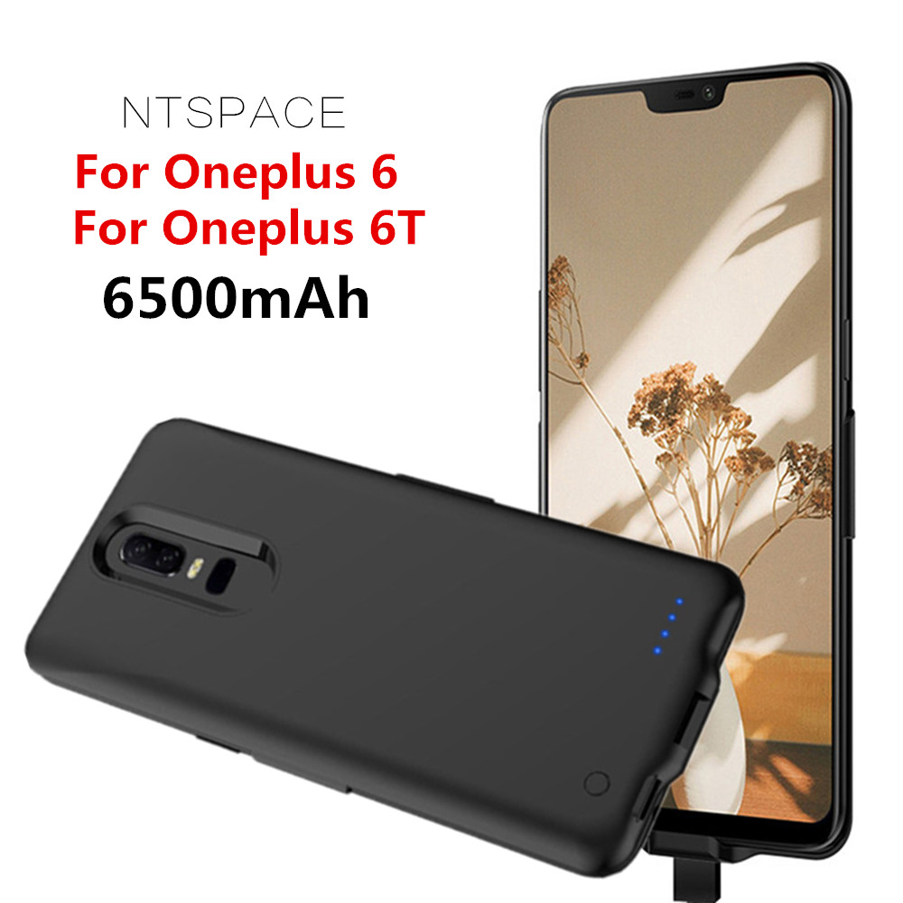 NTSPACE Battery Charger Case For Oneplus 6T Battery Cover 6500mAh Portable Power Bank Case For Oneplus 6 Power Charging CoverNTSPACE Battery Charger Case For Oneplus 6T Battery Cover 6500mAh Portable Power Bank Case For Oneplus 6 Power Charging Cover