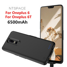 NTSPACE Battery Charger Case For Oneplus 6T Cover 6500mAh Portable Power Bank 6 Charging