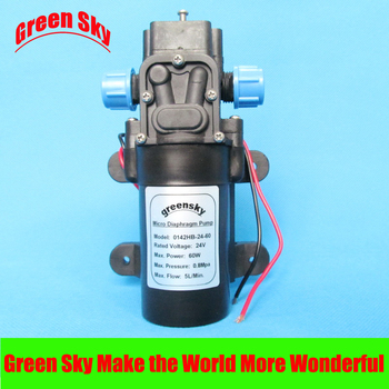 5L/MIN 60W 24V DC Return Valve Type Micro Car High Pressure Water Pump Diaphragm 116psi 5l min dc 60w return valve type 12v high pressure water pump