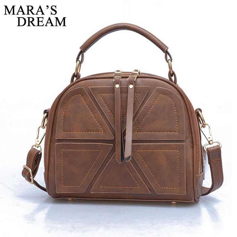 Mara's Dream 2018 Women Bag PU Leather Fashion Chain Black Big Capacity Women's Messenger Shoulder Bags Handbags Women's Totes