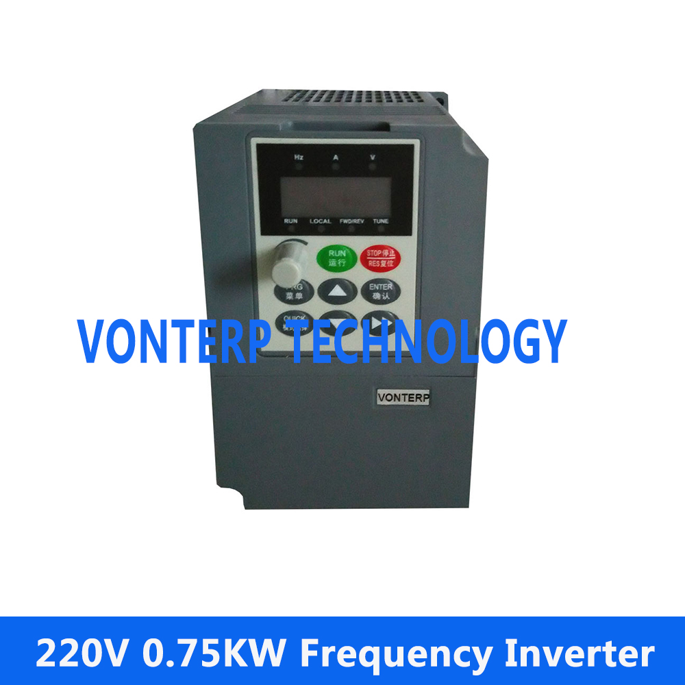 Good performance 0.75KW 220v single phase input and 220v 3 phase output Vector control V/F curve Frequency Inverter vector control frequency converter 220v single phase to 220v three phase 220v 0 75kw