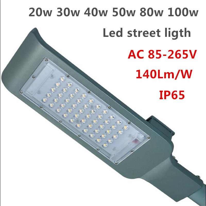 LED Street Lights 20w 30w 40w 50w 80w 100w led street lamp SMD 3030chip 140Lm/W ultra thin LED Street Light