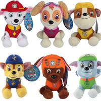 6 Pcs/Set Cute Paw Patrol Dog Anime Stuffed Doll Plush Toys For Children Birthday Gifts