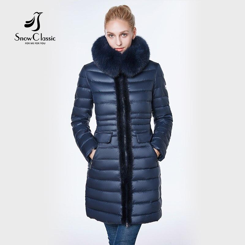 Veste femmes 2018 camperas mujer abrigo invierno manteau femmes parc Vison prédécesseur renard chapeau de fourrure Européenne conception, mince, long, chaud,
