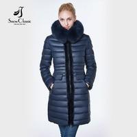 jacket women 2018 camperas mujer abrigo invierno coat women park Mink predecessor fox fur hat European design, slim, long, warm,