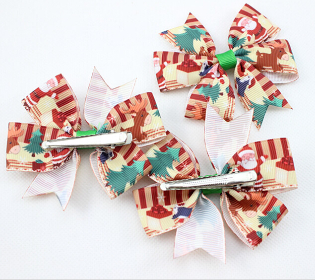 Wholesale Home Décor Fashion Accessories: Wholesale New Christmas Hair Bows For Girl And Woman Hair Accessories Fashion Hair Clips For
