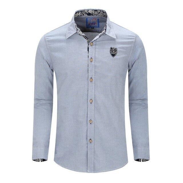 promo code 6ba85 99bea US $14.27 49% di SCONTO|Fredd Marshall Nuovo Arrivato Uomini di Marca  Camicia Casual A Maniche Lunghe vestito Solido camicia camicie per uomo  Oxford ...