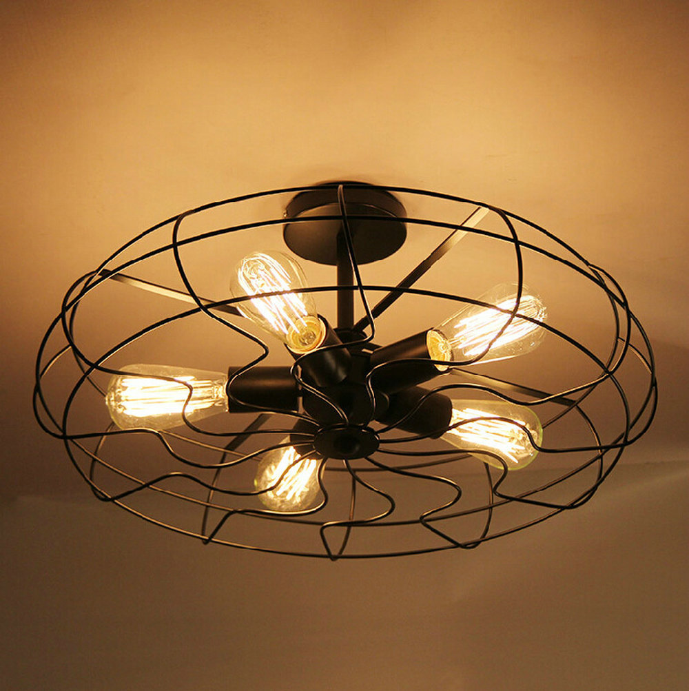 110v220v loft vintage ceiling light fixtures e27 5bulbs iron lamp edison vintage industrial lighting