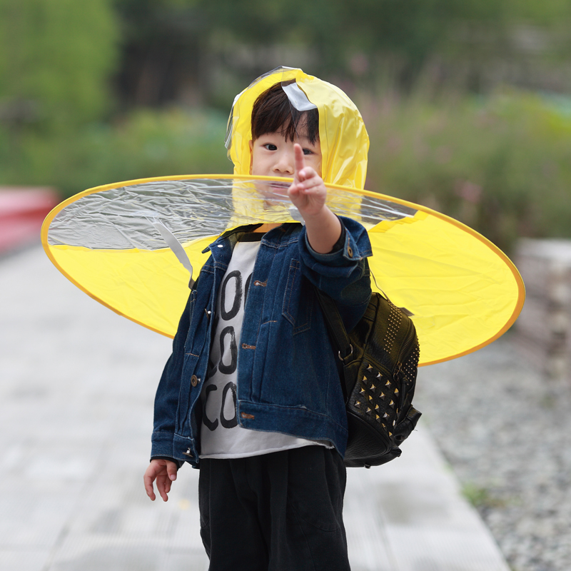 UFO Umbrella Rain Hat Cap Folding Windproof Sunny and Rainy Umbrella Baby  Boys Girls Rain Coat Hands Free for Children Outdoor 60dd3ad1cd17