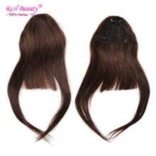 Hair Fringes bangs 100% Real Human Hair Extensions Virgin Hair Clip in Straight Hair Bangs Clip In Fringe Ali Beauty Fringes
