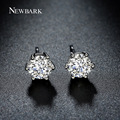 NEWBARK Korean Style Cute Hearts & Arrow Cut CZ Small Earrings White Gold Plated In Silver Color Earing Gifts
