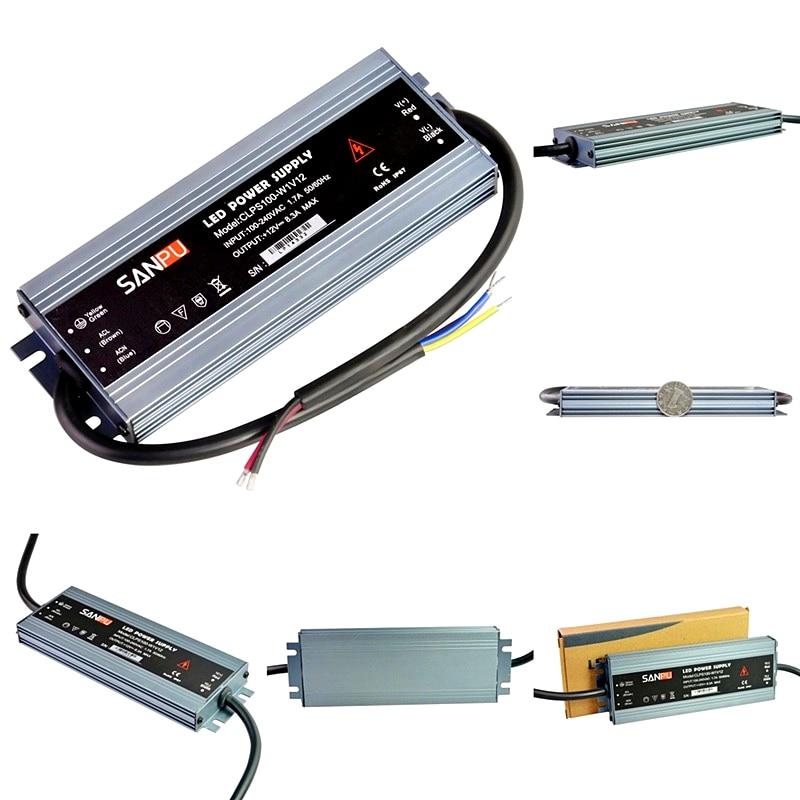 AC 110V 220V to DC 12V 24V 60W-300W Waterproof Lighting Transformers LED Driver Power Adapter For LED Strip Switch Power Supply new ac to dc 12v 25a 300w switch power supply driver adapter for led strip