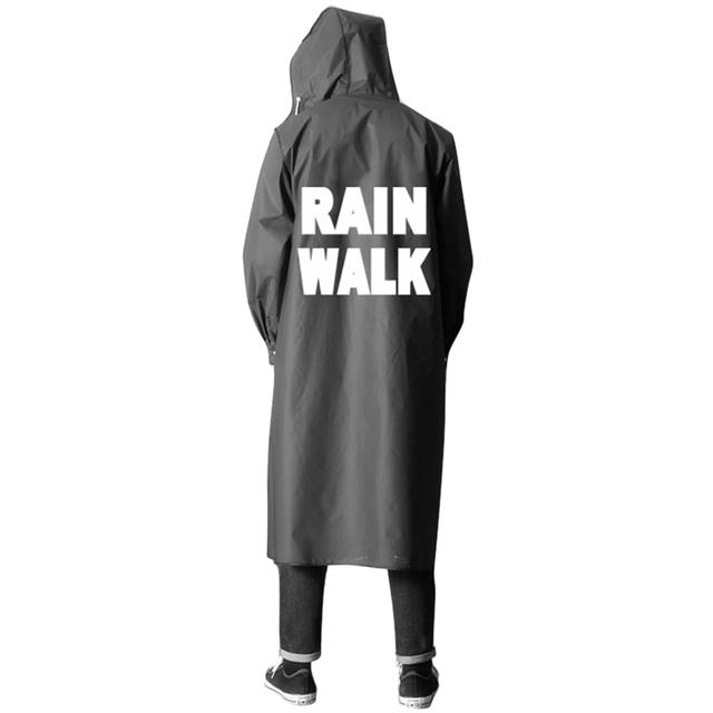 Raincoat Black Outside Rainwear Women Rainwear Men Rain Coat Single Person Waterproof Poncho with Hat Rain Gear