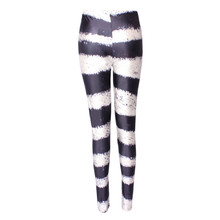 DOUBCHOW Womens Zebra Print Leggings Pants 2018 Maiden Girls Spandex Shiny Stretchy Leggings Costume Skinny Footless Plus Size
