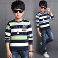 | Tommu Carino Tapas de la Marca de Boy Camisetas de Algodón de Manga Larga Camiseta Infantil Ropa de Algodón Niño Camiseta Ocasional de la camisa de Rayas Tops