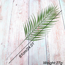 1pcs Simulated iron Leaves green plants Fake Palm Tree Leaf Greenery for Floral flower Arrangement flore wedding decoration