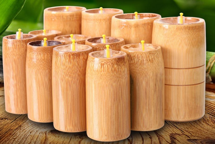 Household carbonized bamboo cans and cupping Bamboo cupping cupping Bamboo is made cupping