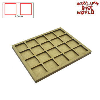 Wargame Base World - Movement Tray -10/15/20 20mm square bases MDF Laser Cut - sale item Building & Construction Toys
