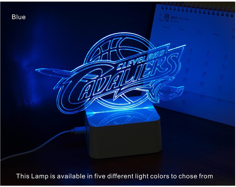 USB Novel Lamp NBA 3D LED Night Lights as Home Bedroom Decorative Besides Lampara for Cavalier Team (5)