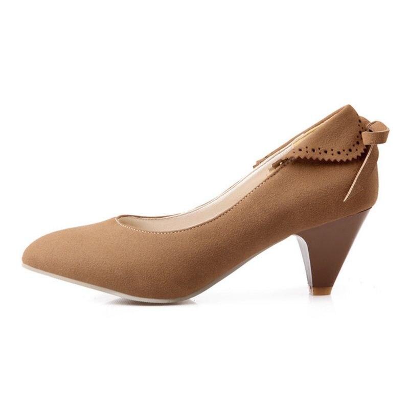 Grueso Calzado Bowknot Tamaño marrón 52 De Cielo Diario 28 Señora En rojo Resbalón Tacón Bombas negro azul Beige Zapatos Plataforma Partido Lebaluka Señoras Mujeres Alto aqpZg7wf