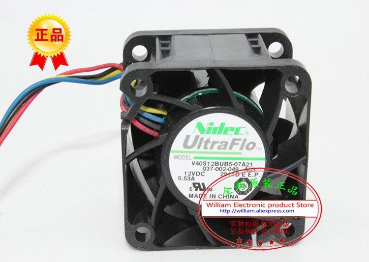 New Original Nidec V40S12BUB5-07A21 12V 0.55A 40*40*28MM 4CM Computer Server cooling fan