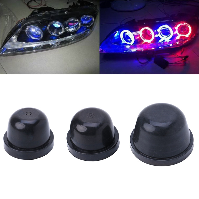 New 1 Pc LED Headlight Auto Car Dust Cover Rubber Waterproof Dustproof Sealing Headlamp Cap Protective Shell Case High Quality