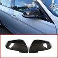 Carbon Fiber ABS Seite Rückspiegel Kappe Abdeckung Trim Für BMW 3 4 Serie GT F30 F31 f32 f33 F34 f36 2013 2018 Auto Zubehör-in Chrom-Styling aus Kraftfahrzeuge und Motorräder bei