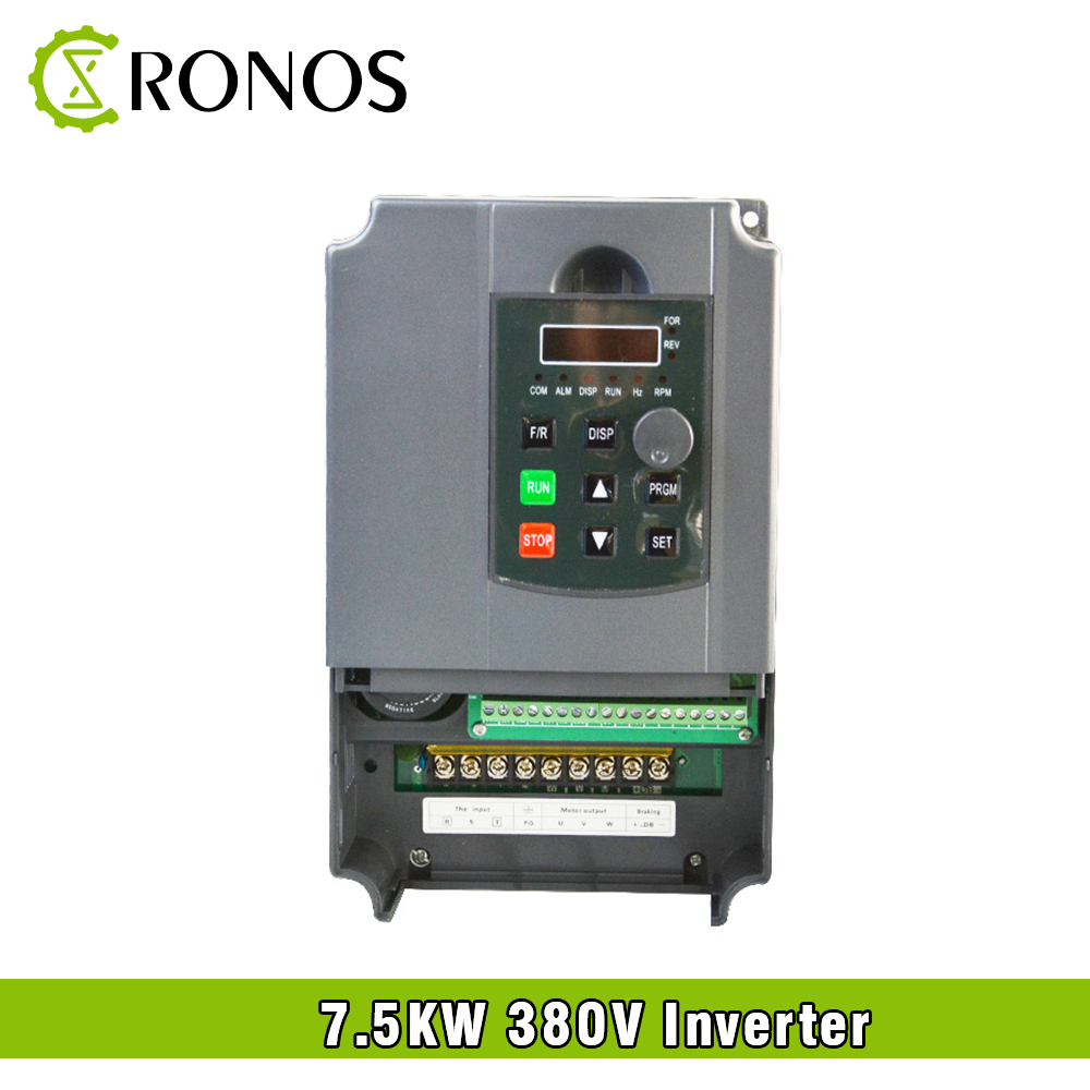 цена на Spindle Motor Speed Control 380V 7.5KW VFD Variable Frequency Drive VFD 3HP Frequency Inverter For Motor