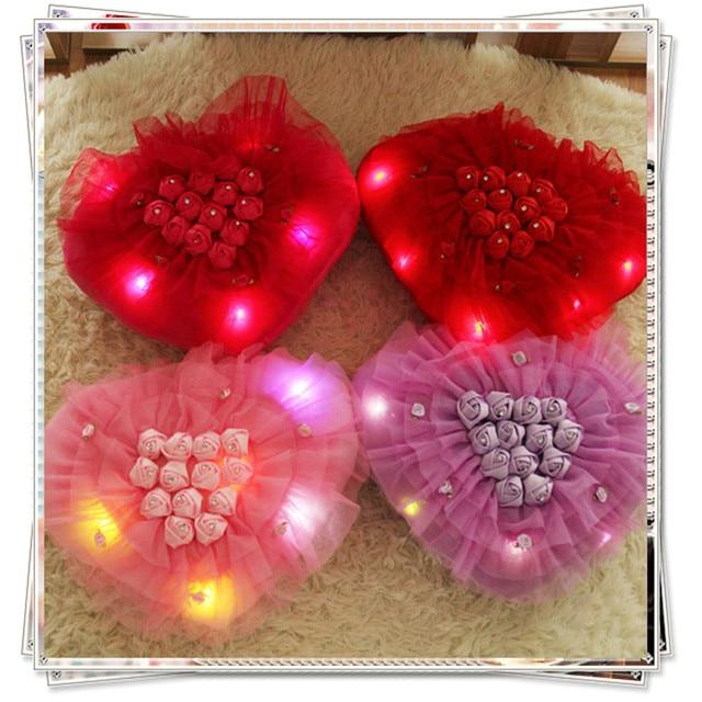День святого валентина Розы мягкие игрушки для букеты губка боб день рождения подарки kawaii плюшевые светящиеся игрушки для девочек hello kitty подушку