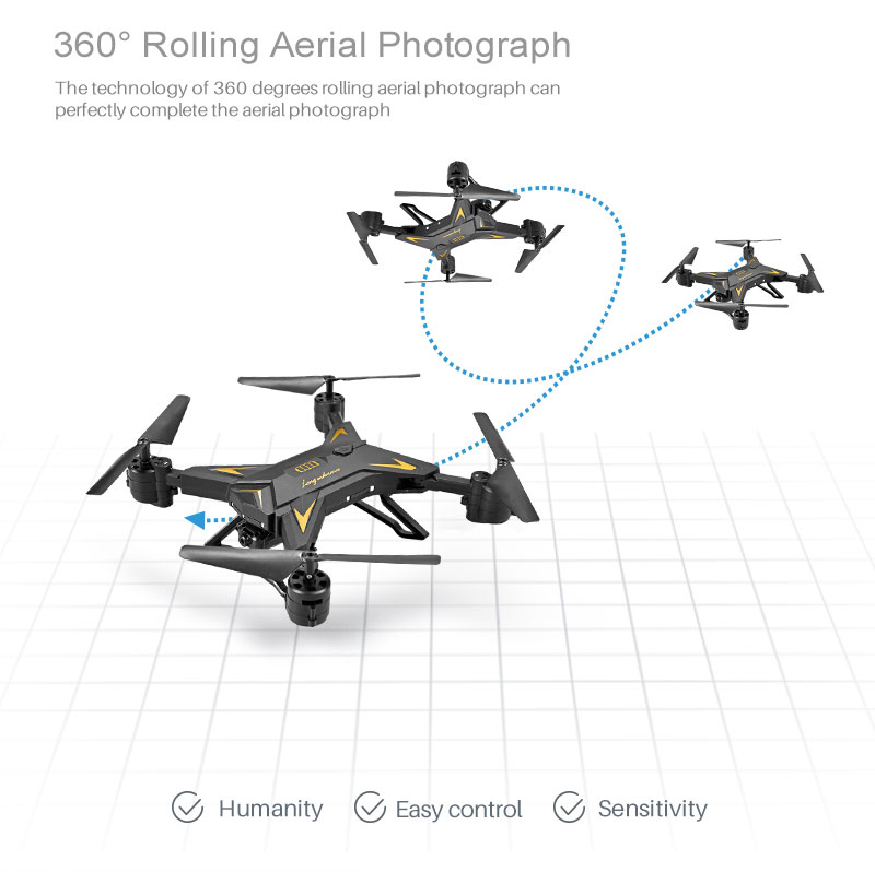 New RC Helicopter KY601S Drone with Camera HD 1080P WIFI FPV RC Drone Professional Foldable Quadcopter  Minutes Battery Life 15