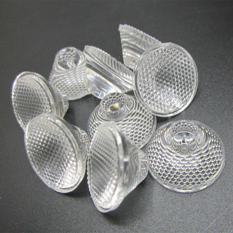 20 мм 5/8/10/15/30/45/60 градусов оптический PMMA светодиодный линзы коллиматор отражатель для 1 Вт 3W 5 Вт Светодиодный светильник лампа E27 MR16 GU10