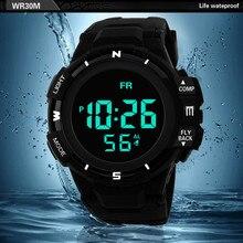 1 шт. водонепроницаемые спортивные мужские часы Модные Роскошные Мужские аналоговые цифровые военные армейские спортивные светодиодный наручные часы relogio A80