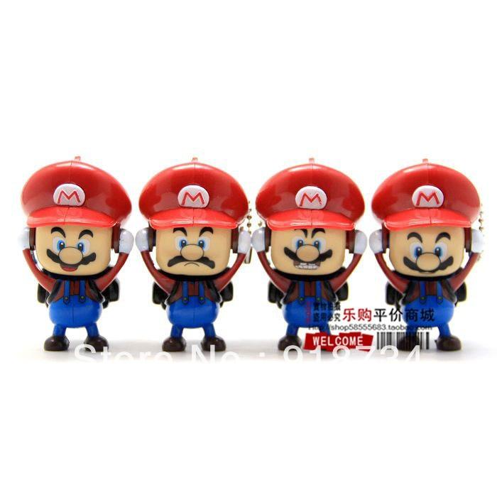 Wholesale Creative <font><b>Cartoon</b></font> Doll Toy 3pcs/set <font><b>Super</b></font> <font><b>Mario</b></font> BROS <font><b>Cute</b></font> Face Change Keychains Free shpping