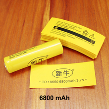 100pcs/lot Lithium Battery Package Special Heat Shrinkable Tube 18650 Pvc Plastic Insulation Shrink Film 6800mah