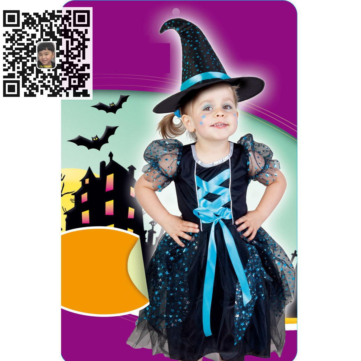2018 New Deluxe Witch Dress Princess Dress Girl Carnival Cosplay Clothing Halloween Costume For Kids Age 3-10 Years