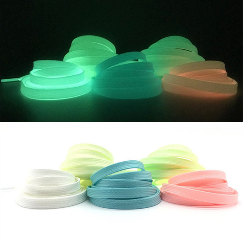 Humorous 120cm Fashion Sport Luminous Shoelace Toys Shoe Accessories Glow In The Dark Shoelace Night Running Gift At Any Cost Shoes