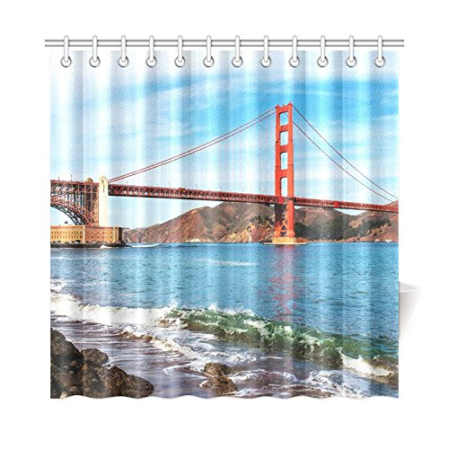Famous Golden Gate Bridge In San Francisco Usa Art Decor Shower Curtain 72 X Inches Curtains From Home Garden On Aliexpress Alibaba