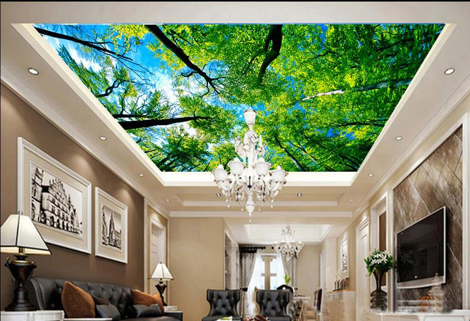 Buy ceilings customize 3d ceiling murals for Ceiling mural wallpaper