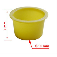 1000pcs/Bag 9mm Yellow  Plastic Tattoo Ink Pigment Cap Cups Small  Size For Tattoo Accessories Cleaning Products
