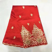 Fashion Red African George Lace Fabric With Sequins High Quality 2018 New  French Silk George Lace For Party Dress 5 yards ZGL8-2 0b3b9852df5c