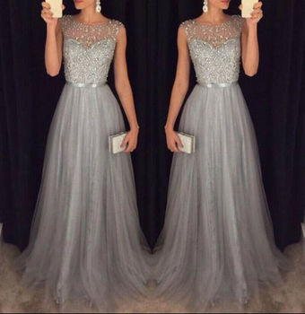 2019 Women Formal Gown Dresses Wedding Evening Party Prom Long Dress Arrival Lace Floral Maxi Dresses 4