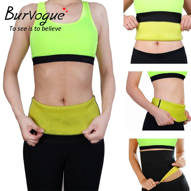 e20fbee61b Burvogue Women Shaper Neoprene Abdominal Slimming Belt Sweat Sauna Neoprene  Body Shaper Belt Hot Shapers Waist Trainer Corset