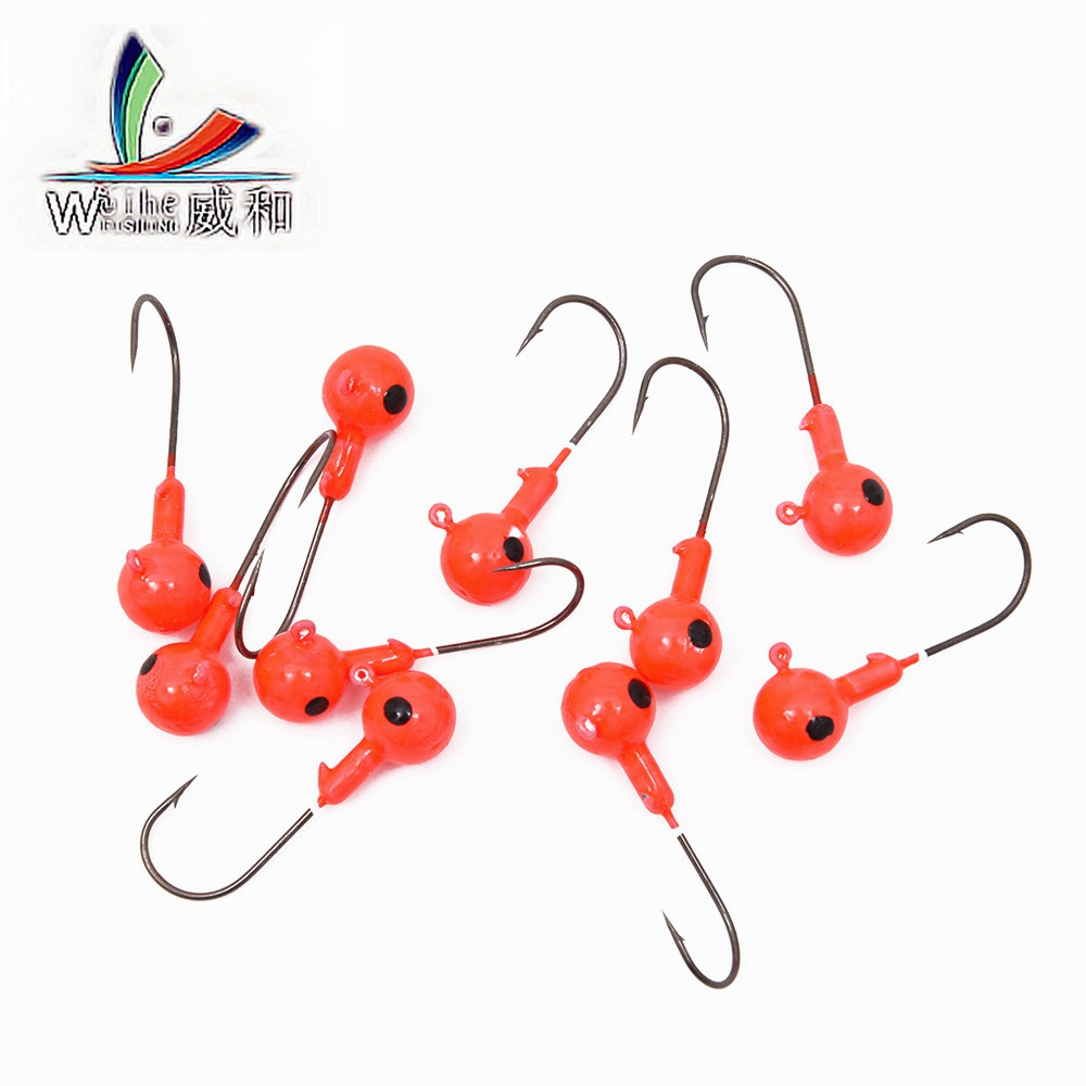 5 Pcs/Set Lead Fishing Exposed Lead Jig Head 2g/-20g ig Hooks For Soft Fishing Lure of Carbon Steel Hooks Fishing Accessories