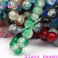 2017 new Glass Bead Round 10MM 30Pcs Crack Beads mix Crystal spacers DIY earring Bracelet choker necklace jewelry making