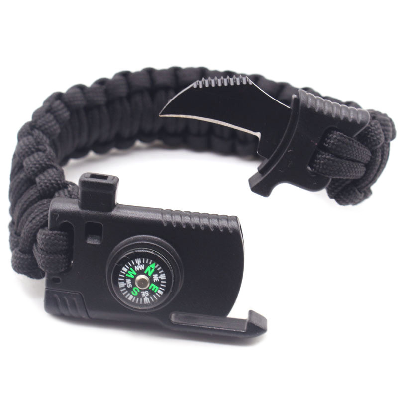 Braided Bracelet Men Multi-function Paracord Survival Bracelet Outdoor Camping Rescue Emergency Rope Bracelets For Women multi functional survival paracord bracelet black camping outdoor survival gear whistle lifesaving braided rope tactical wrist