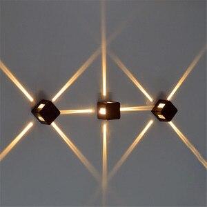 Image 4 - 4 יח\חבילה קיר אור LED ספוט אור צלב כוכב מנורת IP65 עמיד למים כיכר חזיתות תאורת לילה תאורת הנדסת BL 27S