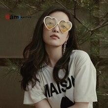 Samjune Cute Vintage Sunglasses Women Heart Sun Glasses Women Brand Designer Col