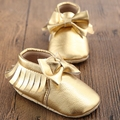 New Designs Tassels Gold White PU Leather Baby Shoes Newborn Sapato Bebe Unisex First Walkers Toddler Moccasins Infant Shoes