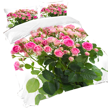 3/4 Piece 3D Flower Duvet Cover Sets 3D Butterfly Soft and Luxury Red Rose Bedding Sets Queen Size Bed Comforters Covers
