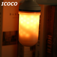 6W E27 LED Flame Fire Bulb 3 Gear Mode Simulation Flame Dynamic Lighting Flickering Night Light